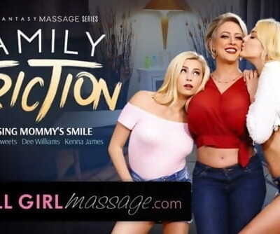 AllGirlMassage Lesbian Step-Daughters Massage MILF Mommy!