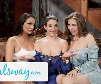 GIRLSWAY Angela White, Lena Paul & Sofi Ryan are STACKED