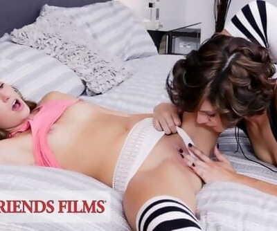 Cadey Mercury Teaches Innocent Teen how to be Bad - GirlfriendsFilms