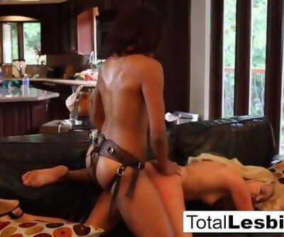 Lotus Lain Fucks Aaliyah Love with a Big Strap-on!