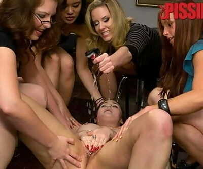 Sexy Charlotte Vale Pees herself then Gets Pissed on