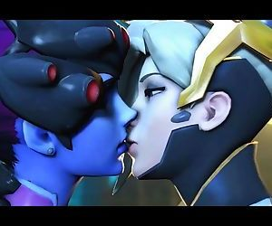 Widowmaker & Mercy Kissing