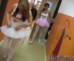 Gorgeous ebony teen lesbian Hot ballet gal orgy