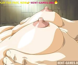 Fucks asian girl with big hairy pussy in hentai game