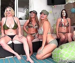 6 Girl Neighborhood Lesbian Orgy! Jelena Jensen, Vicky Vette, Maggie Green, Carmen Valentina, Rachel Storms and Its..