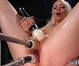 Blonde spreads legs for pussy and anal toying 10 min HD
