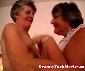 Dirty old fat lesbian couple - 4 min