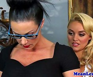 Lesbo babe Alexis Monroe dominated by milfHD