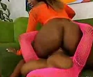 Three ebonies on the couch part3