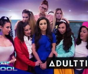 Free Premium Video GIRLCORE Private School- Lesbian Orgy
