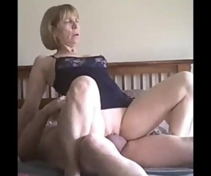 Horny Blonde Mature Fuck on our date