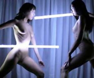 Sensual Light Show Lesbian Fuck with Marley Brinx and Jenna Sativa