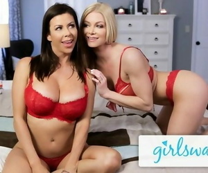 GIRLSWAY Romantic Evening between MILFs Alexis Fawx and her GF