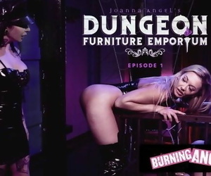 BurningAngel Joanna Angel Destroys her Gorgeous Clients Ass in her BDSM Store