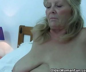 Granny With Big Tits Gets Finger..
