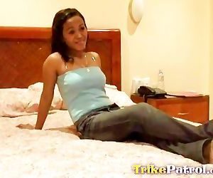 A cock-struck Filipina babe with..