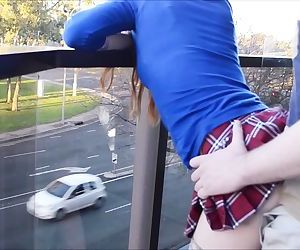 Fucking On A Public Balcony