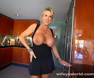 Busty MILF Blows The Repairman