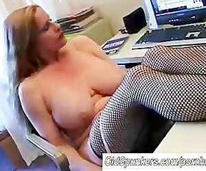Busty cougar in..