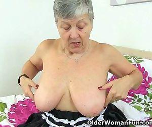 British granny Savana will serve..