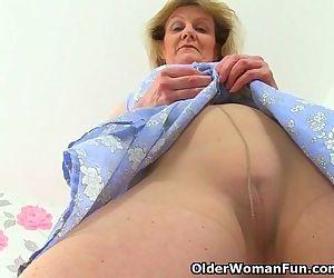 British granny Clare Cream lowers..
