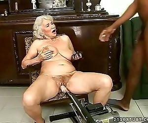 Interracial granny fuck 6 min