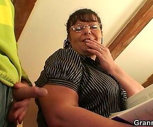Chubby lady riding cock after..