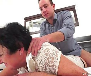 Mature Julienne fucked by a young..