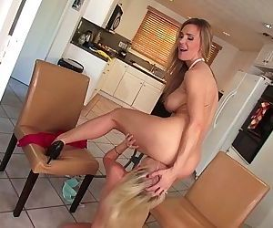 Busty taboo stepmom fingered by..