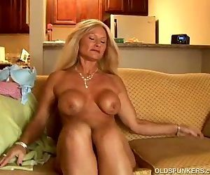 Sexy cougar slips..