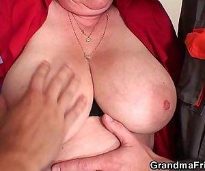 Nasty granny double penetration -..