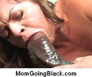 Interracial sex MILF fucked by..