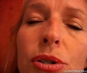 Mature blonde has nice big tits -..