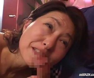 Milf Giving Blowjob For Young Guy..
