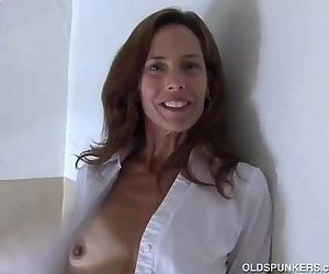 Gorgeous mature red head in..