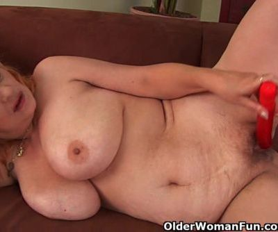 Hairy Grandma With Big Tits Has..
