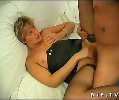 French mom gets anal fucked by a..