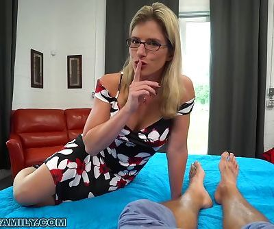 Busty Blonde Mom Let's Step-Son..