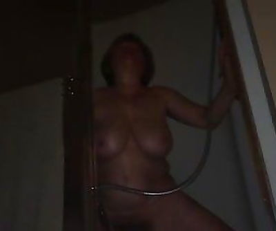 Mom cumming during power outage..