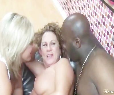 Lucky Customer Fucked By Two Hot..