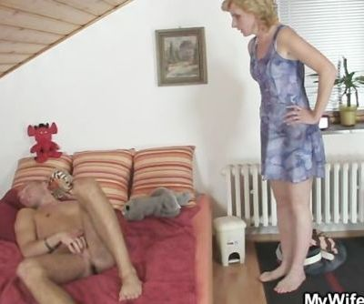 She rides her daughter's BF cock..