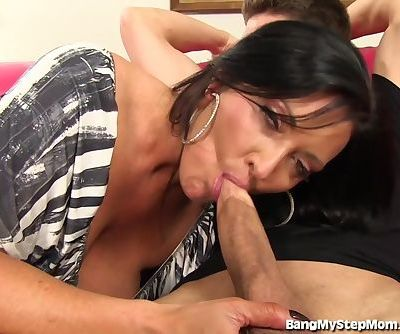 Sneaky Step-mom Seduces Her..