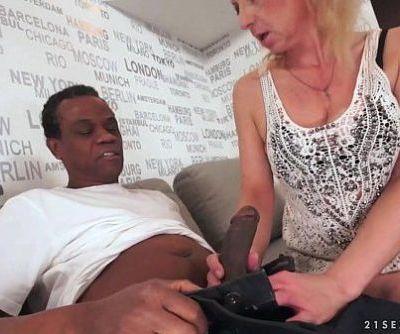 Lusty Grandma Ilona takes black..