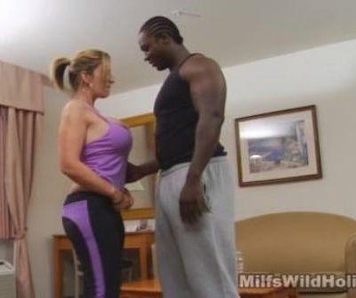 Milf Sara Jay Brings A Black Stud..