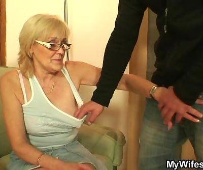 Porn-loving granny..