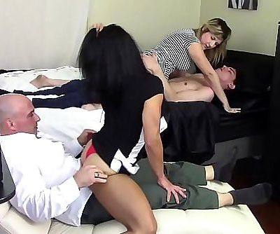 STEP MOM GRINDS SONS DICK WHILE..