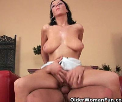 Soccer mom with big tits gets..