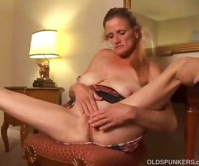 Skanky old spunker fucks her..