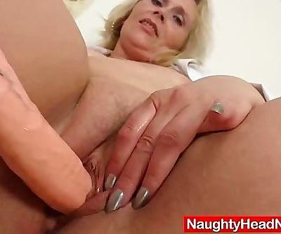 Blonde curvicious mature nurse