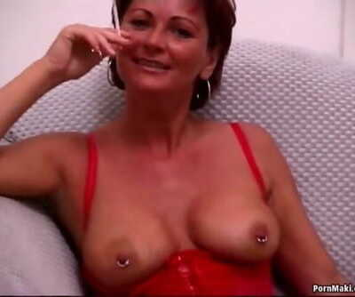 Busty mature tries..